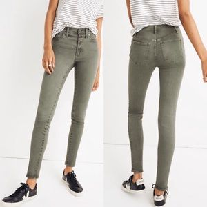 Madewell Tall Button Front High-Rise Skinny Crop